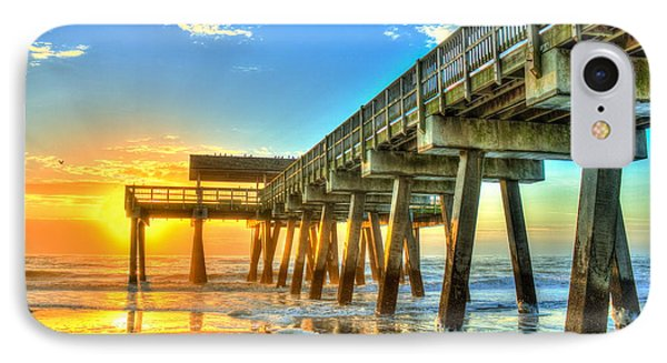 Tybee Island Sunrise 7 IPhone Case by Reid Callaway