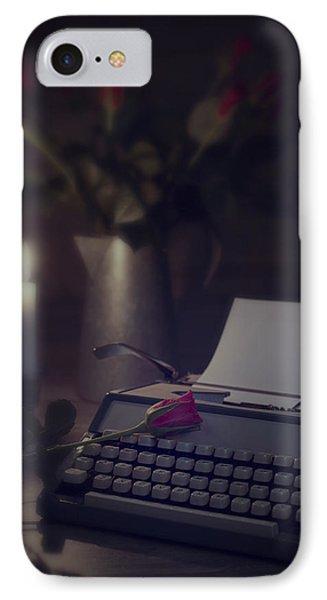 Typewriter By Candlelight Phone Case by Amanda Elwell