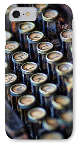 Typewriter Keys IPhone Case by David and Carol Kelly