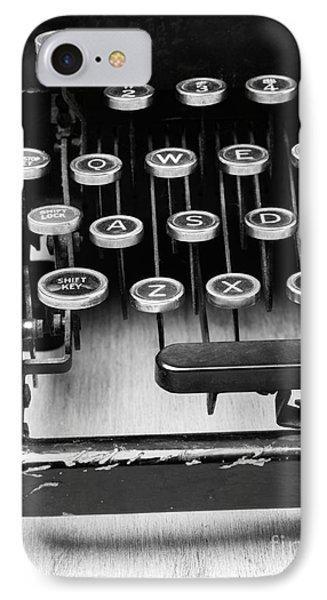 Typewriter Triptych Part 1 Phone Case by Edward Fielding