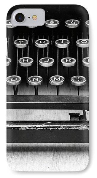 Typewriter Triptych Part 2 Phone Case by Edward Fielding