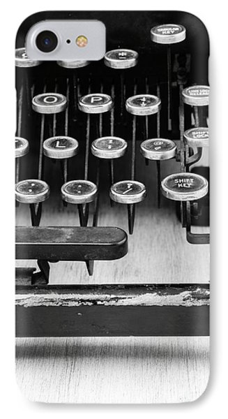 Typewriter Triptych Part 3 Phone Case by Edward Fielding