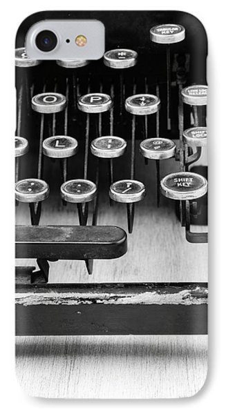 Typewriter Triptych Part 3 IPhone Case by Edward Fielding
