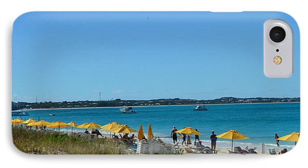 IPhone Case featuring the photograph Typical Beach Day by Judy Wolinsky