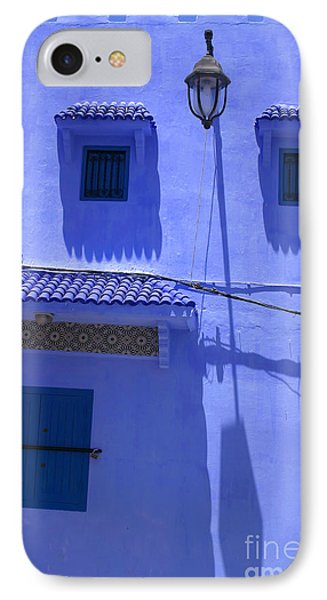 IPhone Case featuring the photograph Typical Blue Facade In The Medina Of Asilah On Northwest Tip Of Atlantic Coast Of Morocco by Ralph A  Ledergerber-Photography