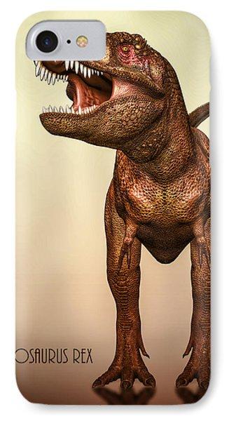 Tyrannosaurus Rex 2 IPhone Case by Bob Orsillo