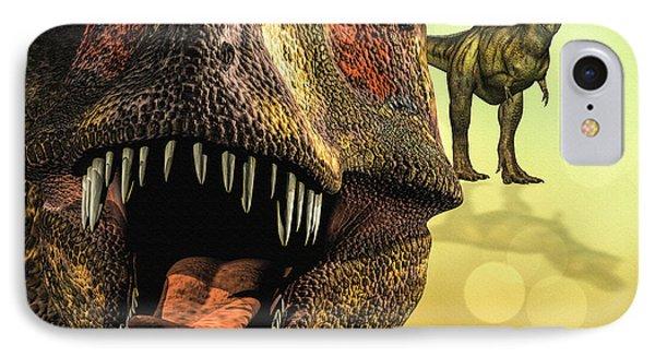 Tyrannosaurus Rex 4 IPhone Case by Bob Orsillo