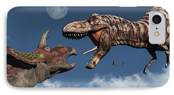 Tyrannosaurus Rex Confronting IPhone Case
