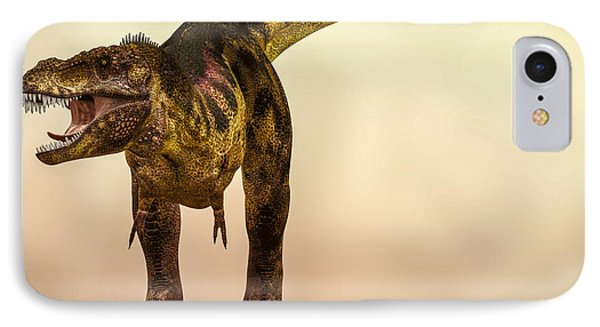 Tyrannosaurus Rex Dinosaur  IPhone Case by Bob Orsillo