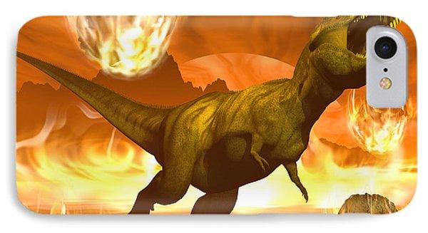 Tyrannosaurus Rex Struggles To Escape Phone Case by Elena Duvernay