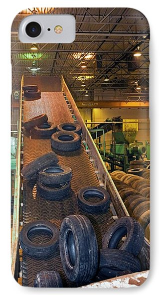 Tyre Recycling Facility IPhone Case by Jim West