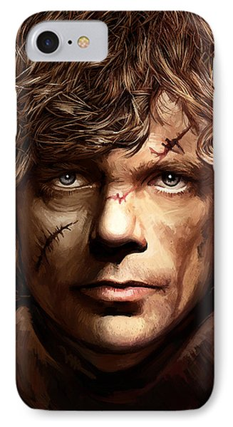 IPhone Case featuring the painting Tyrion Lannister - Peter Dinklage Game Of Thrones Artwork 2 by Sheraz A