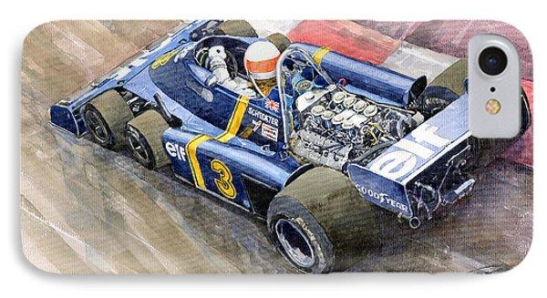 Tyrrell Ford Elf P34 F1 1976 Monaco Gp Jody Scheckter IPhone Case by Yuriy  Shevchuk