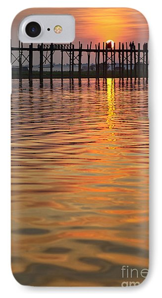 U Bein Bridge In Mandalay Phone Case by Juergen Ritterbach