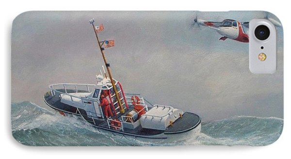 U. S. Coast Guard 44ft Motor Lifeboat And Tilt-motor Aircraft  Phone Case by William H RaVell III