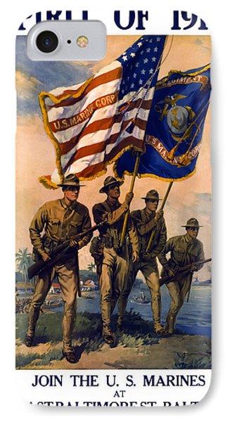 U. S. Marines Spirit Of 1917 Phone Case by Daniel Hagerman