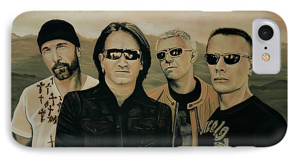 U2 Silver And Gold IPhone 7 Case by Paul Meijering
