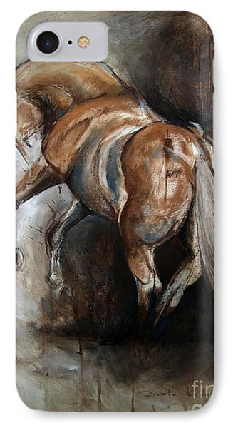 IPhone Case featuring the painting Ubreakable by Dorota Kudyba