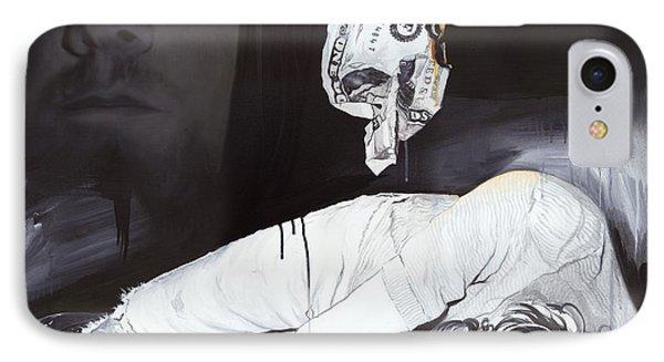 Kurt Cobain - '#uck Fame' IPhone Case by Christian Chapman Art