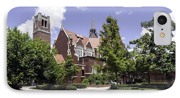 Uf University Auditorium And Century Tower IPhone Case by Lynn Palmer