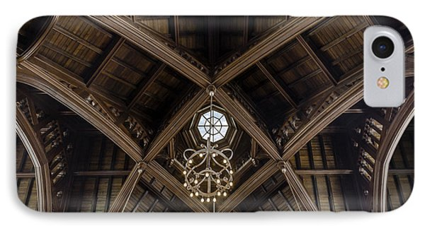 Uf University Auditorium Vaulted Wooden Arches Phone Case by Lynn Palmer