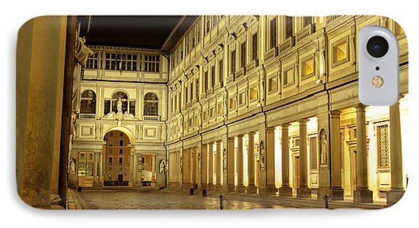 Uffizi Gallery Florence Italy IPhone Case by Ryan Fox