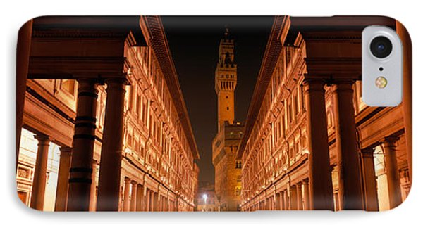 Uffizi Museum, Palace Vecchio IPhone Case by Panoramic Images