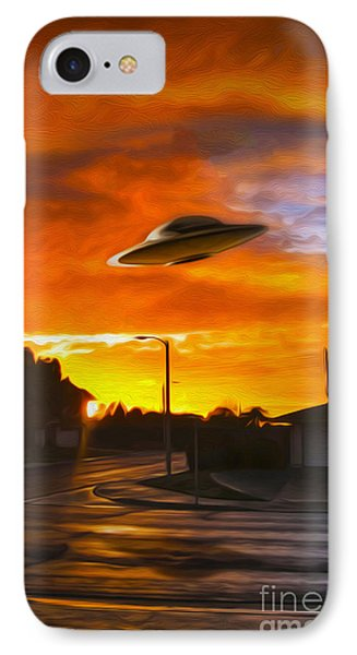 UFO IPhone Case by Gregory Dyer