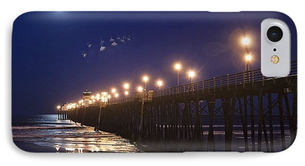 Ufo's Over Oceanside Pier IPhone Case by Ann Patterson