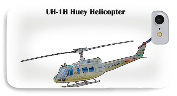 Uh-ih Huey Helicopter IPhone Case by Barry Jones
