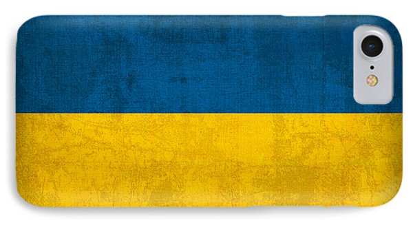 Ukraine Flag Vintage Distressed Finish IPhone Case