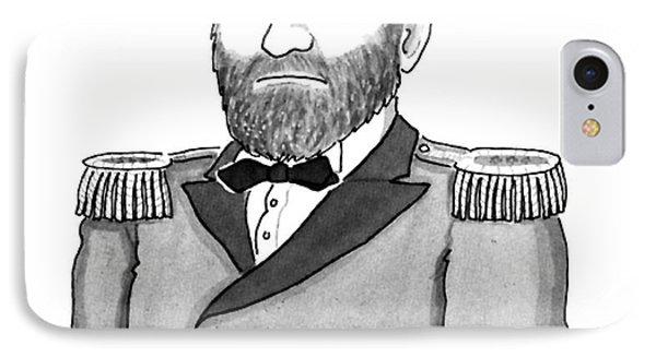 Ulysses Simpson Grant IPhone Case by Leo Cullum