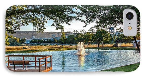 Umatilla Fountain Pond Phone Case by Robert Bales