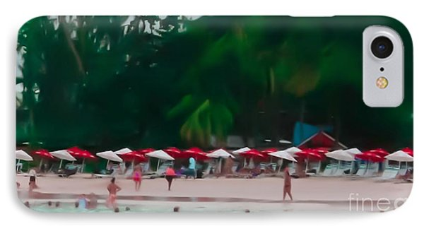 Umbrella Beach Phone Case by Perry Webster