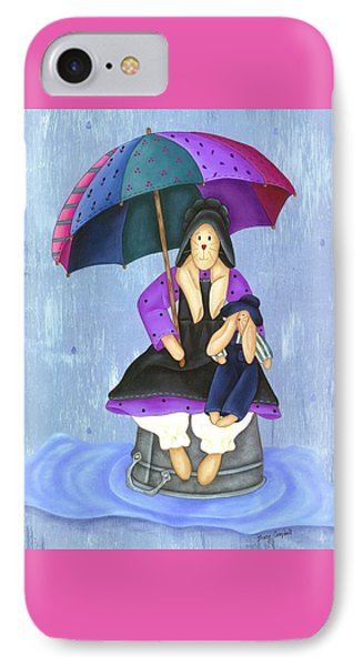 Umbrella Bunny IPhone Case by Tracy Campbell