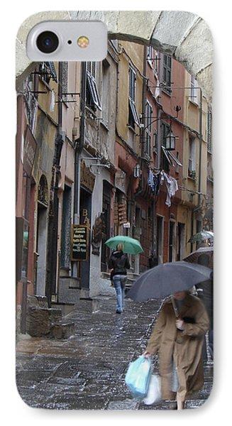 Umbrella Day Portovenere Italy IPhone Case by Sally Ross
