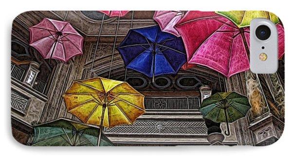 Umbrella Fun IPhone Case by Joan  Minchak
