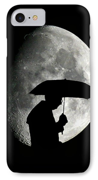 Umbrella Man With Moon IPhone Case