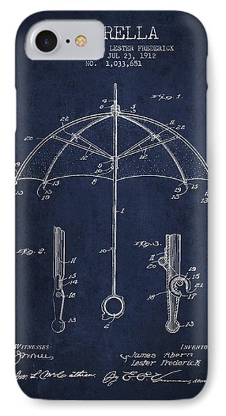 Umbrella Patent Drawing From 1912 Phone Case by Aged Pixel