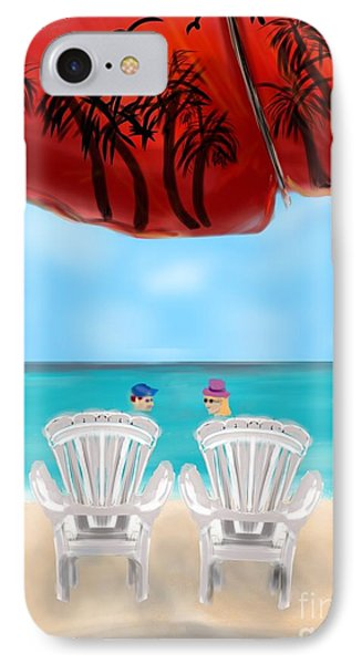 Umbrella View Phone Case by Christine Fournier