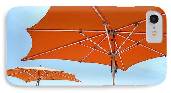 Umbrellas And Wharf IPhone Case