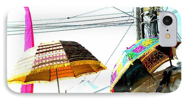 Umbrellas And Wires IPhone Case