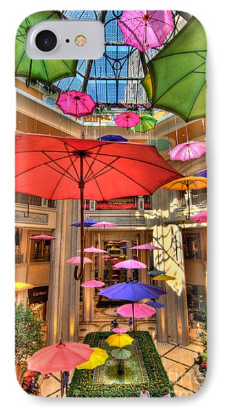 Umbrellas At Palazzo Shops Phone Case by Amy Cicconi