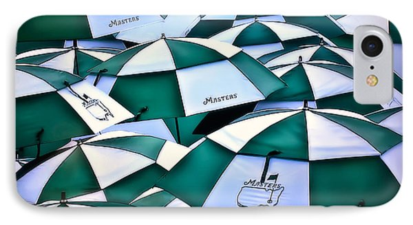 Umbrellas At The Masters IPhone Case by Walt Foegelle