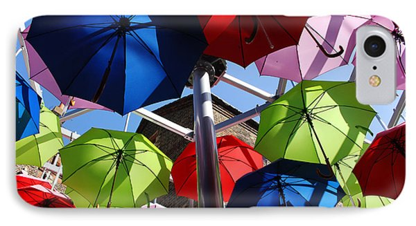 Umbrellas In The Sky IPhone Case by Nicky Jameson