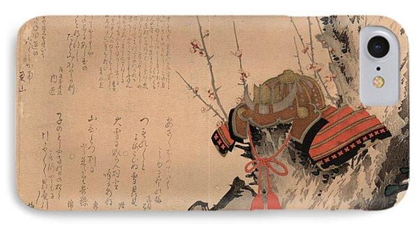 Ume Ni Kabuto, Helmet On A Plum Tree. 1828 IPhone Case by Shigeharu, Ryusai (1803-53), Japanese