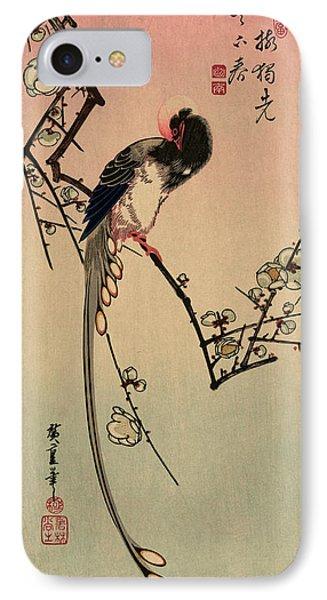 Ume Ni Onagadori IPhone Case by Utagawa Hiroshige Also And? Hiroshige (1797-1858), Japanese