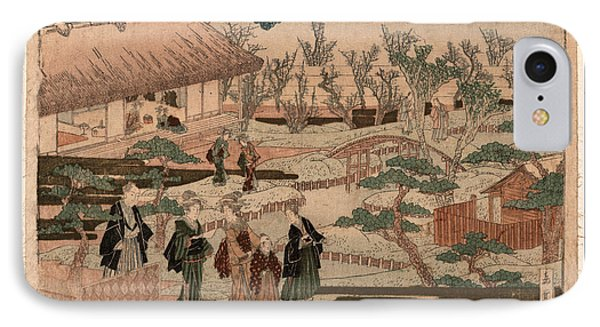 Ume Saku Niwa IPhone Case by Yajima, Gogaku, 19th Century, Japanese