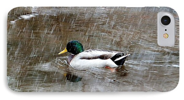 IPhone Case featuring the photograph Un Froid De Canard by Marc Philippe Joly