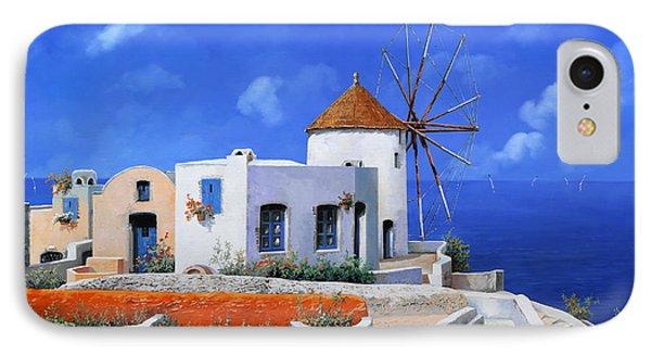 un mulino in Grecia IPhone Case by Guido Borelli